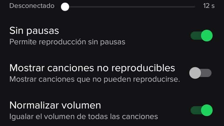 Normalizar volumen spotify